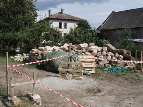 Stavba hasičské zbrojnice srpen 2009